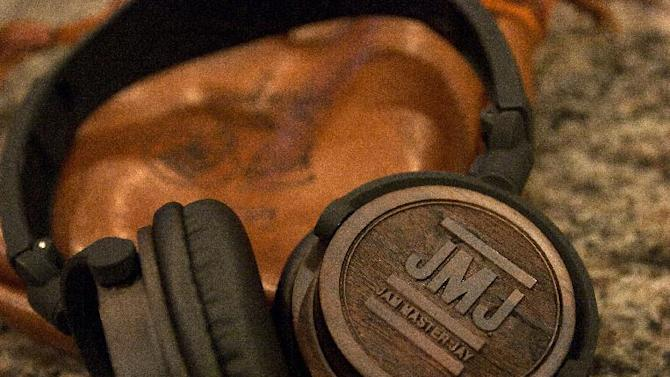 This Dec. 17, 2012, photo, shows, Jam Master Jay signature model headphones from BiGR Audio, in Decatur, Ga. The headphones were designed with a nod  to the late Jason Mizell, a member of the rap group Run-DMC. (AP Photo/Ron Harris)