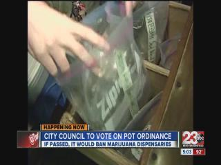 Pot shop ordinance up for a vote