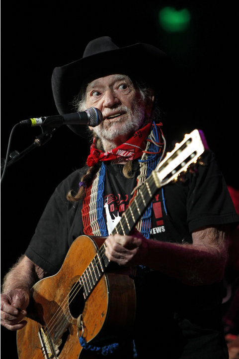 "FILE - This Oct. 17, 2011 file photo shows country singer Willie Nelson during ""Fire Relief, The Concert For Central Texas"" at the Frank Erwin Center in Austin, Texas. Nelson will be joined by Toby Ke"