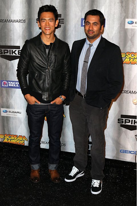John Cho and Kal Penn arrive at Spike TV's &quot;Scream 2011&quot; at Universal Studios on October 15, 2011 in Universal City, California. 