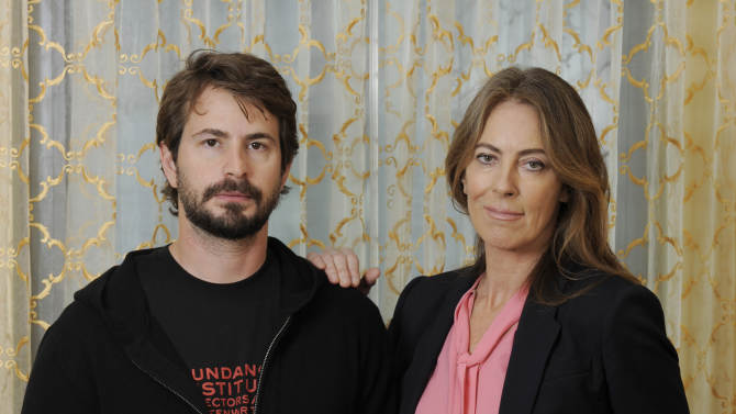 """Mark Boal, left, screenwriter and co-producer of the film """"Zero Dark Thirty,"""" and the film's director and co-producer Kathryn Bigelow pose together for a portrait at the Beverly Wilshire Hotel on Monday, Dec. 10, 2012, in Beverly Hills, Calif. """"Zero Dark Thirty,"""" which introduces itself as """"based on first-hand accounts of actual events,"""" is new kind of timely fusing of filmmaking and journalism, what Bigelow calls """"an imagistic version of living history."""" (Photo by Chris Pizzello/Invision/AP)"""