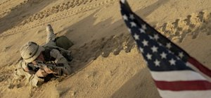 FILE - This Jan. 25, 2003 file photo shows an US soldier…