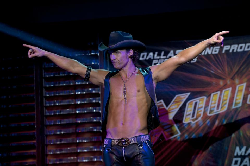 "This film image released by Warner Bros. shows Matthew McConaughey in a scene from ""Magic Mike."" (AP Photo/Warner Bros., Claudette Barius)"