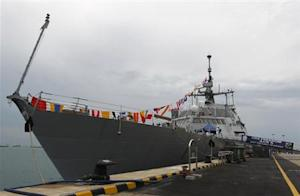 The USS Freedom littoral combat ship is moored at Changi…