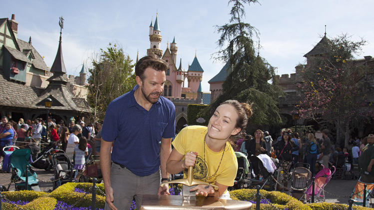Olivia Wilde And Jason Sudeikis Visit Disneyland In California