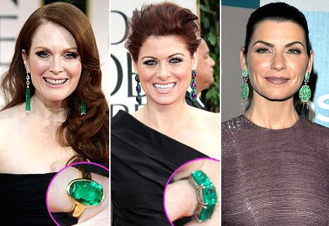 Golden Globes Style: Stars Who Stunned in Emerald Jewels