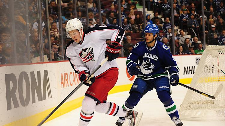 NHL: Columbus Blue Jackets at Vancouver Canucks