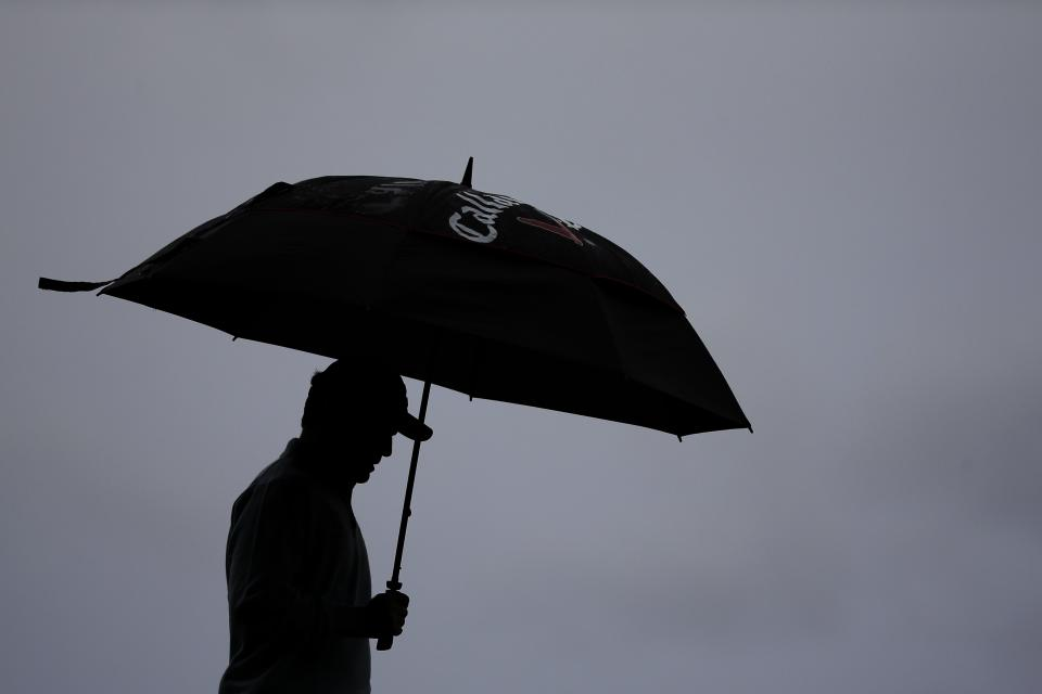Branden Grace, of South Africa, walks to the 18th tee during the first round of the U.S. Open golf tournament at Merion Golf Club, Friday, June 14, 2013, in Ardmore, Pa. (AP Photo/Morry Gash)