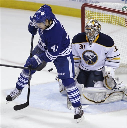 Frattin lifts Maple Leafs over Sabres 4-3 in OT