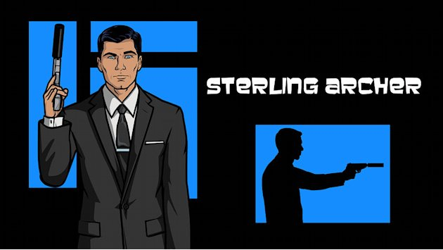 Sterling Archer (voiced by Jon Benjamin) in Archer