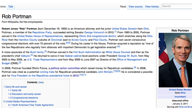 Wikipedia Cracks Down on Editors, But VP Prediction Game Continues