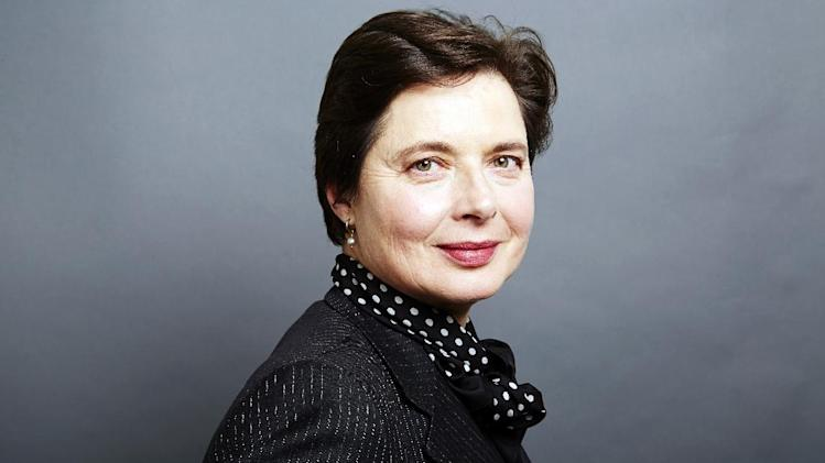 "This Dec. 5, 2013 photo shows Italian actress Isabella Rossellini posing for a portrait in New York. Rossellini, 61, has transformed her 40-odd ""Green Porno"" short films into an hour-long stage show. (Photo by Dan Hallman/Invision/AP)"