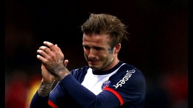 Groe Gefhle bei Beckhams letztem Heimspiel mit Paris St. Germain