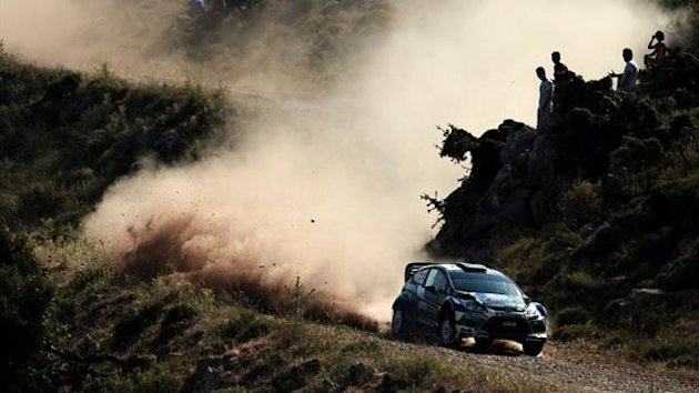 Petter Solberg on the Acropolis Rally in 2012 (AFP)