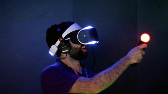 Virtual reality headsets put you in the video game