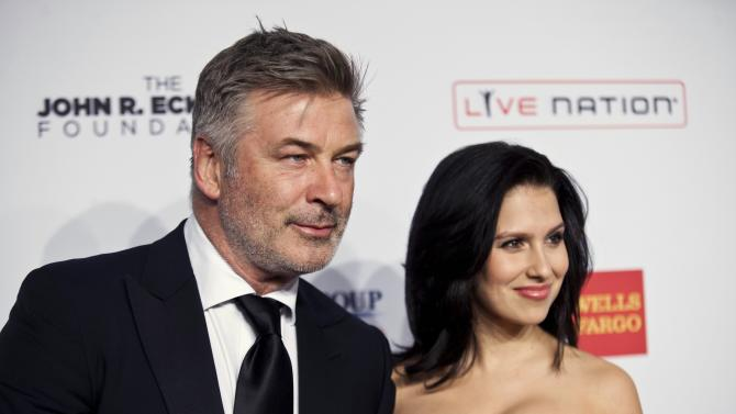 """Baldwin and Hilaria arrive at the Elton John AIDS Foundation's 12th Annual """"An Enduring Vision"""" benefit gala at Cipriani in New York"""