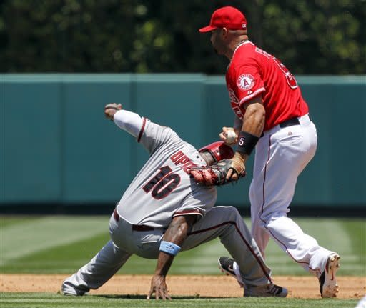 Richards, Pujols lead Angels past Diamondbacks 2-0