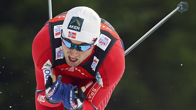 Winner Petter Northug of Norway skis during the men freestyle 4 km prologue at the cross country Tour de Ski competition in Oberhof, central Germany, Saturday, Dec. 29, 2012.
