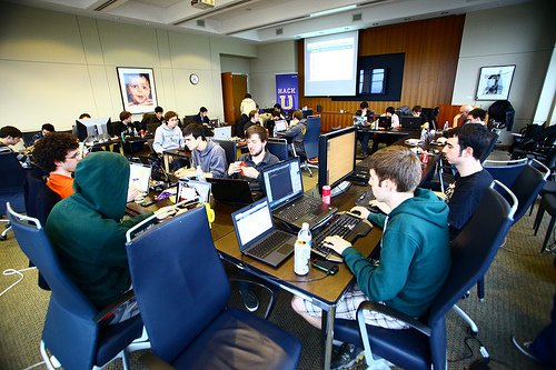 Student hackers at University of Washington Hack U