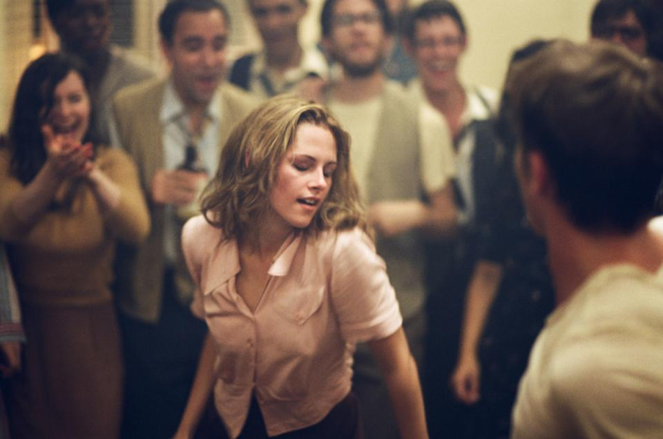 "This undated publicity film image released by IFC Films/Sundance Selects shows Kristen Stewart, center, as Marylou/LuAnne Henderson in a scene from the film, ""On the Road,"" directed by Walter Salles. (AP Photo/IFC Films/Sundance Selects, Gregory Smith)"