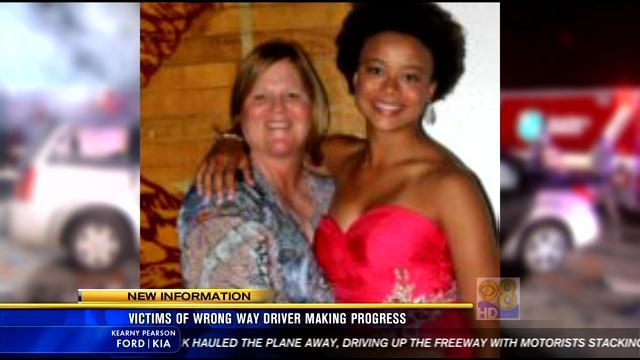 Victims of wrong way driver making progress