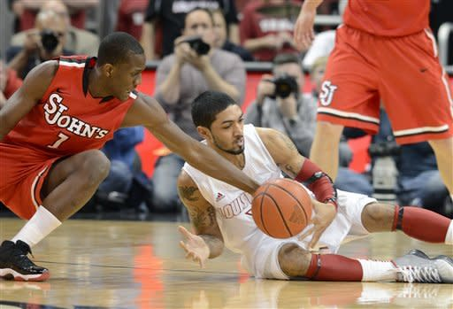 No. 12 Louisville outlasts St. John's 72-58