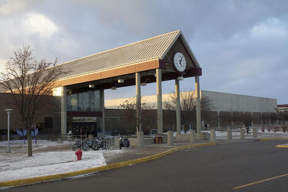 The parking lot of the CMU Student Activity Center, or SAC, was where a student was abducted at gunpoint by Eric Ramsey around 9:30 at night, Wednesday, Jan. 16, 2013. (AP Photo/The Saginaw News, Colleen Harrison)