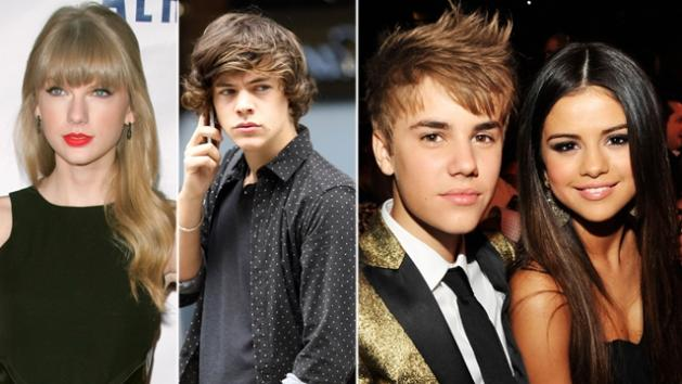 Taylor Swift, Harry Styles, Justin Bieber, Selena Gomez -- Getty Images