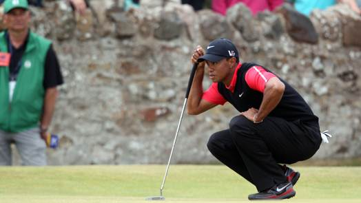 Woods frustrated with struggle reading greens