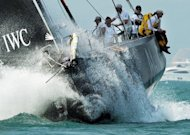 Abu Dhabi Ocean Racing competes during the stage one start of Leg 4 to Auckland in the Volvo Ocean Race at Sanya, Hainan Island, in February 2012. British double Olympic silver medallist Ian Walker ordered rations to be imposed on his Abu Dhabi crew&#39;s dwindling food supplies on Tuesday as the sixth leg of the Volvo Ocean Race to Miami reached its halfway stage