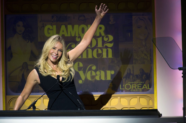 Chelsea Handler appears onstage at the Glamour Women of the Year Awards on Monday, Nov. 12, 2012 in New York. (Photo by Charles Sykes/Invision/AP)