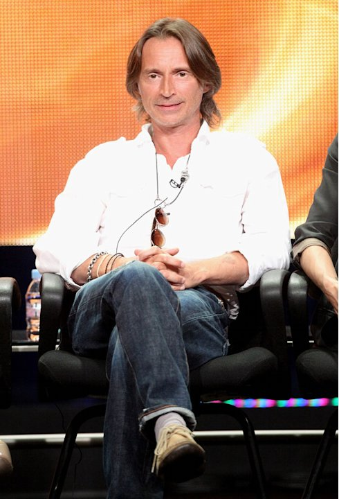 "Robert Carlyle of the television show ""Once Upon A Time"" speaks during the Disney ABC Television Group portion of the 2011 Summer Television Critics Association Press Tour held at The Beverly Hilton H"