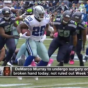 Dallas Cowboys running back DeMarco Murray undergoes surgery, status uncertain vs. Colts