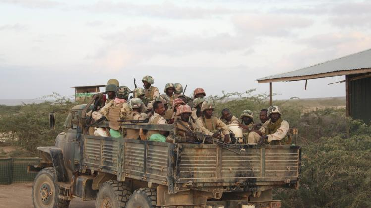 AMISOM troops, belonging to Djiboutian contingent of AU mission, embark on operation to capture al Shabaab-held town of Buule Burde
