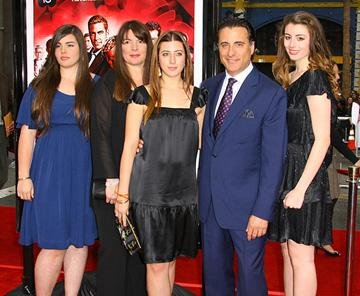 Andy Garcia and family at the Los Angeles premiere of Warner Bros. Pictures' Ocean's Thirteen