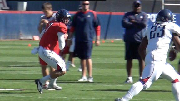 Arizona football practice - April 10