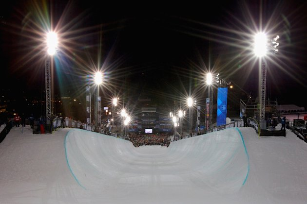   General View From The Start Area Of The Halfpipe Prior To The Men's Snowboard Superpipe Final Getty Images