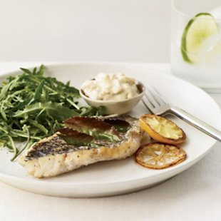 Herb-Broiled Fish with Lemon Aioli photo by Tina Rupp