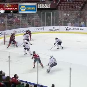 Michal Neuvirth Save on Jonathan Huberdeau (17:35/1st)