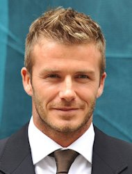 LA Galaxy English soccer player David Beckham