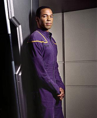 Anthony Montgomery as Ensign Travis Mayweather on UPN's Enterprise Enterprise