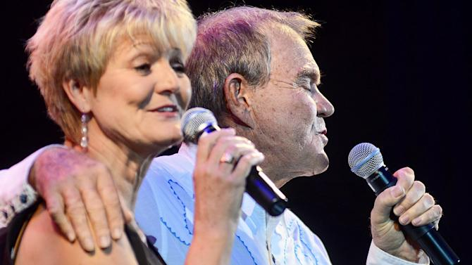 Glen Campbell performs with his daughter, Debby Campbell-Cloyd, at the IP Casino in Biloxi, Ms. on Friday, July 15, 2011. (AP Photo/William Colgin)
