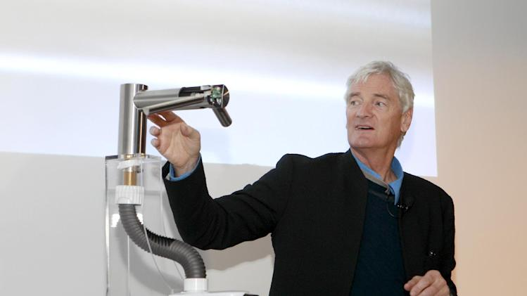 IMAGE DISTRIBUTED FOR DYSON - Dyson Founder James Dyson speaks at the Dyson Airblade launch event at the GlassHouses in New York on Monday, Feb. 04, 2013. (Mark Von Holden/AP Images for Dyson)