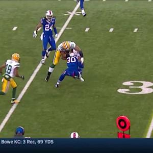 Bacarri Rambo intercepts Aaron Rodgers