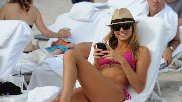Stacy Keibler is sighted on Miami Beach in Miami on December 31, 2009  -- Getty Images