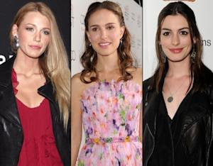 Blake Lively/Natalie Portman/Anne Hathaway -- Getty Images