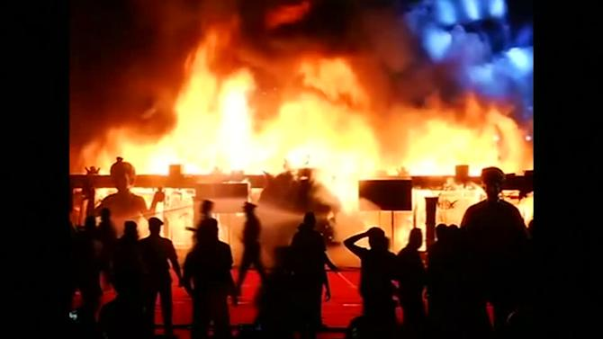 """Huge fire engulfs venue at """"Make in India"""" event"""