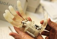 A bionic hand at the Istitute of Biorobotic of the Italian University St. Anna School in Pisa. At the university, a bionic arm commanded by the human brain or a limb extension that allows rescuers to lift rubble after earthquakes are just some of the futuristic innovations in the pipeline