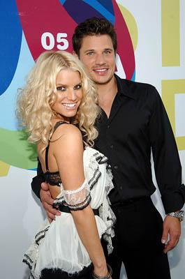Jessica Simpson and Nick Lachey MTV Video Music Awards Arrivals - 8/28/2005