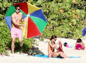 Olivia Palermo, Johannes Huebl Sunbathe Next to Nudists: Pictures